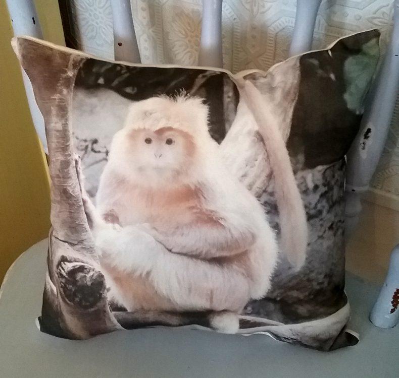 Monkey Nature Wildlife Pillow