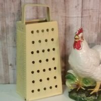 Decorative Painted Yellow Vintage Kitchen Cheese Grater