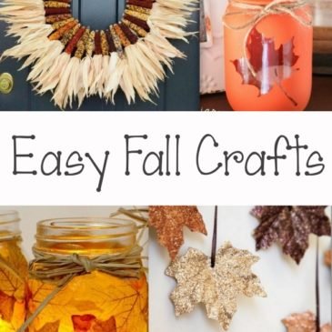 Easy Fall Crafts: An Upcycled Basket Pumpkin Patch and More