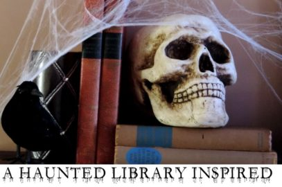 Haunted Library Inspired Halloween Mantel