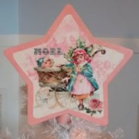 Shabby Chic Victorian Pink Christmas Tree Topper