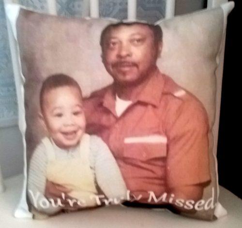 handmade photo pillow