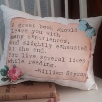 Handmade Vintage Inspired Book Lover's Gift Pillow