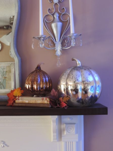 Decorating For Thanksgiving With Mercury Glass