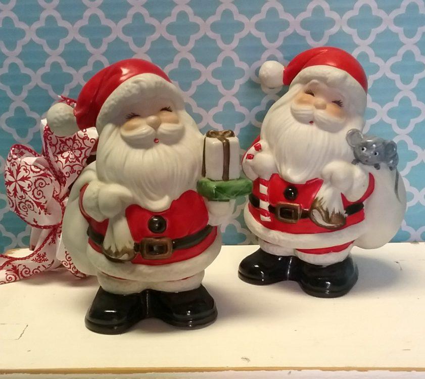 Vintage Homco Santa Claus Banks