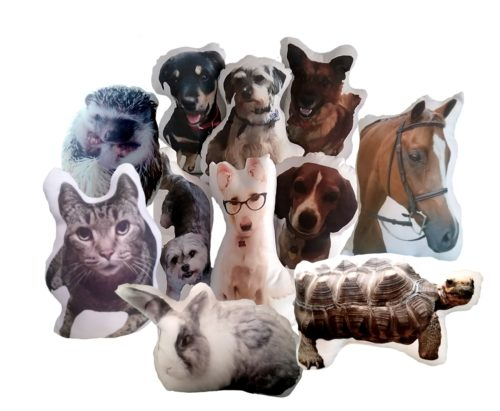Personalized Pet Photo Pillow, Pet Shaped Pillow