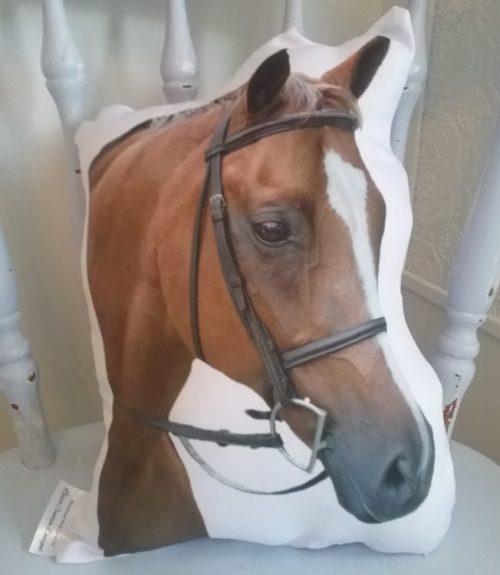 Custom Horse Photo Pillow, Horse Shaped Pillow
