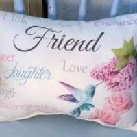 Sentimental Friend Gift Pillow, Birthday Gift