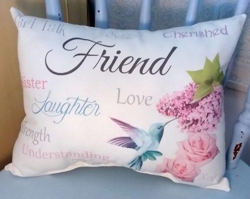 Sentimental Friend Gift Pillow, Birthday Gift