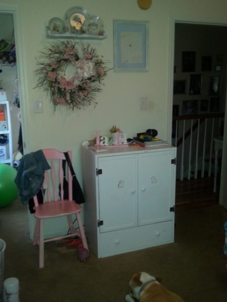 Shabby Chic Bedroom TV Cabinet