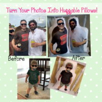 Huggable Personalized Person Photo Pillow