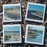 Handmade Waterway Beach Scenery Coaster Set