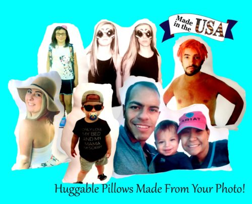 Person Shaped Personalized Photo Gift Pillow