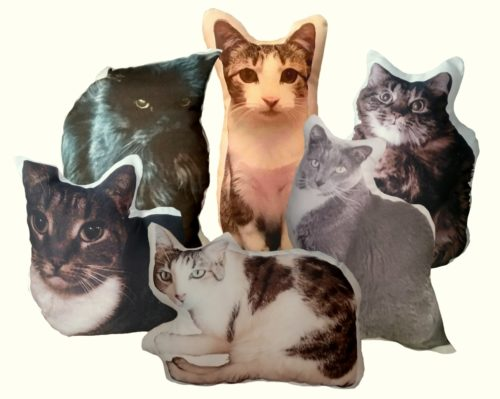 Personalized Cat Shaped Photo Pillow