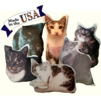 Personalized Cat Shaped Photo Pillow Made In The USA