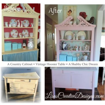 A Vintage Hoosier Table Gets A Pink Shabby Chic Makeover