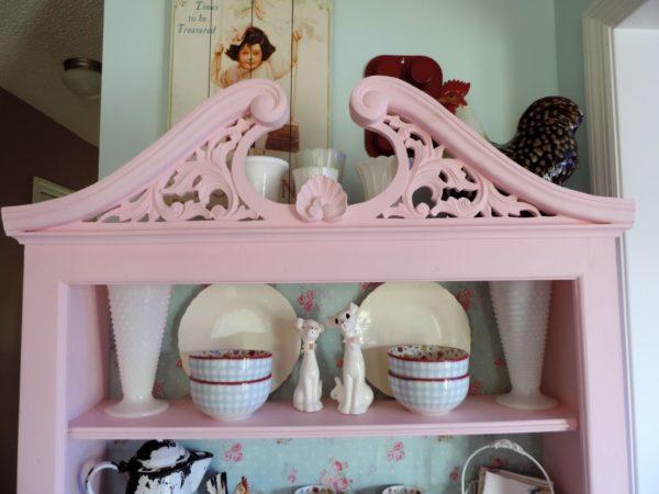 Shabby Chic Pink Kitchen Hoosier cabinet