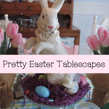 Pretty Pastel Easter Tablescapes
