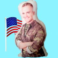 Personalized Military Hero Photo Pillow