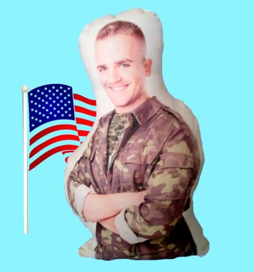 Personalized Soldier Photo Pillow Military Family Gift