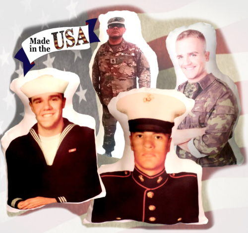 US Armed Forces Military Soldier Photo Gift Pillow