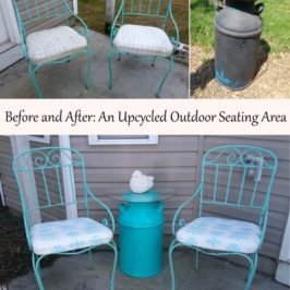 Before and After - An Upcycled Outdoor Seating Area