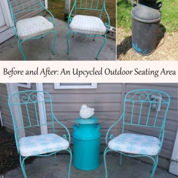 Before And After: An Upcycled Outdoor Seating Area