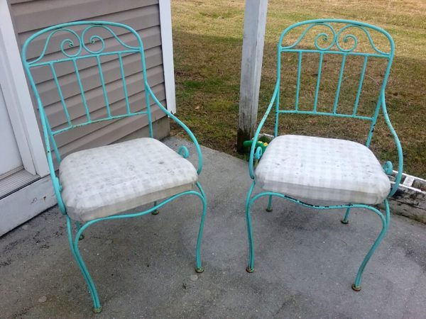 Outdoor Chair Makeover Before