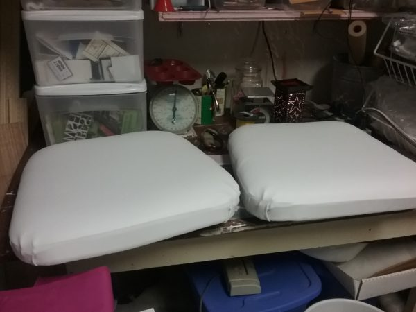 Painted Fabric Seat Cushions