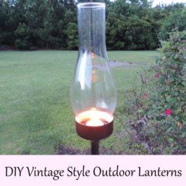 DIY Vintage Style Outdoor Lanterns