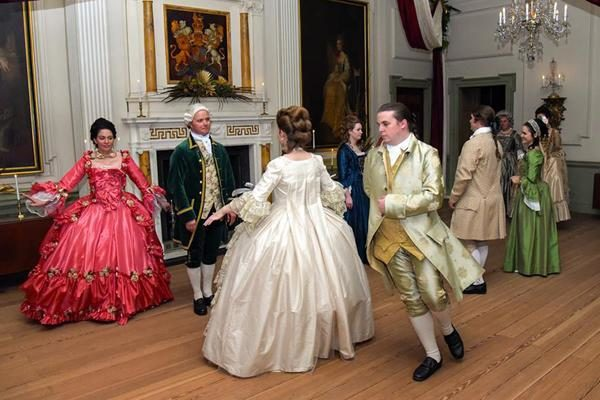 Dancing at Tryon Palace Christmas Candlelight Tour