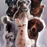 Custom Made Dog Photo Pillow, Dog Shaped Photo Pillow