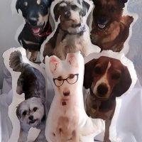 Custom Made Dog Photo Pillow, Dog Shaped Photo Pillow