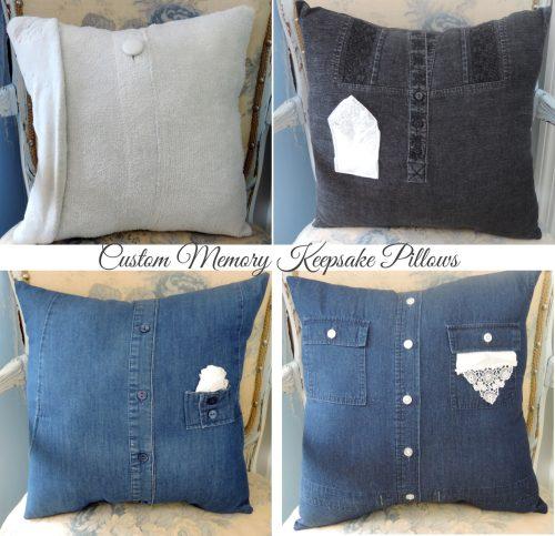 Custom Memory Keepsake Pillows Made From Clothing