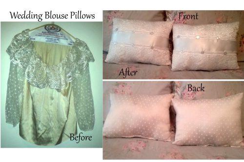 Custom Memory Pillows Made Wedding Blouse