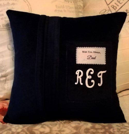 Memory Pillow Made From Bathrobe
