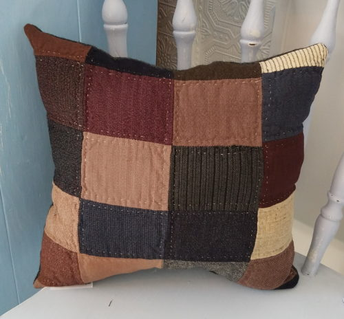 Memory Pillow Made From Grandmas Antique Quilt
