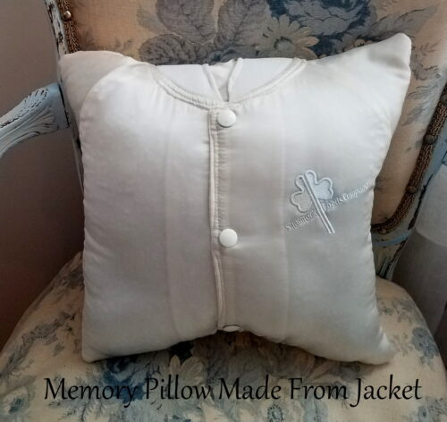 Memory Pillow Made From Jacket
