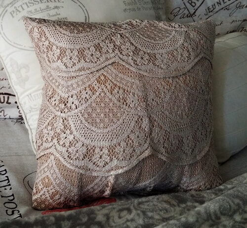 Memory Pillow Made From Lacey Skirt