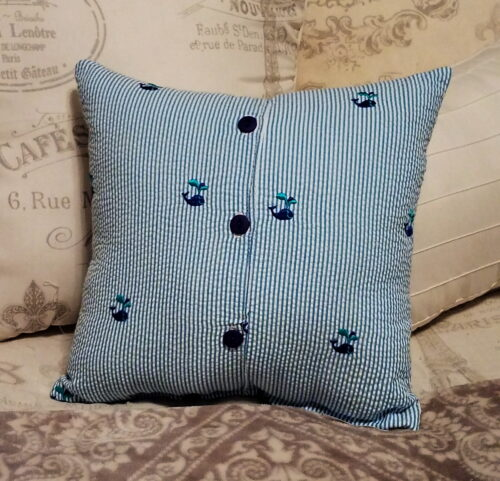 Memory Pillow Made From Little Girl Dress
