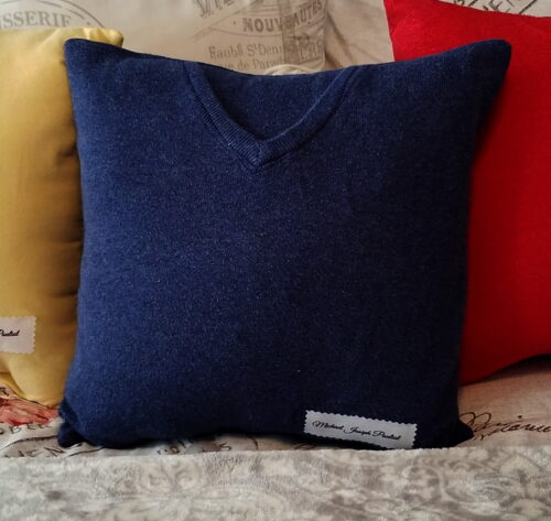 Memory Shirt Sweater Pillow With Name Patch