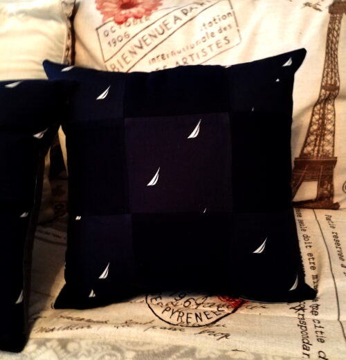 Patchwork Memory Pillow Made From Pajama Pants
