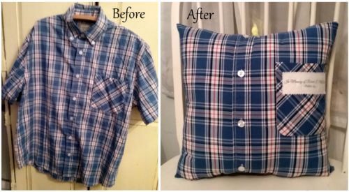 Personalized Memory Pillow Made From Loved Ones Shirt