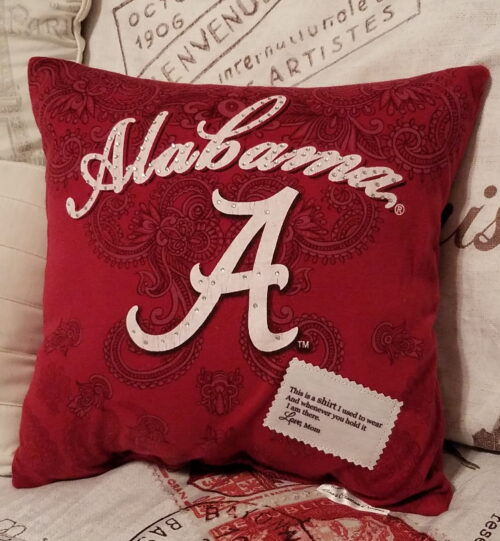 T-shirt memory Pillow With Poem Patch