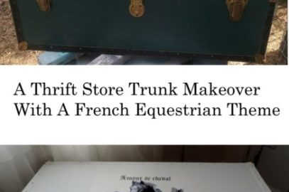 A Thift Store Foot Locker Trunk Makeover With A French Equestrian Theme