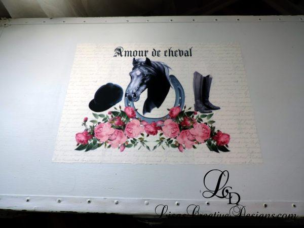 Amour de cheval French Horse Upcycled Trunk