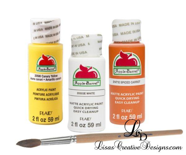 Apple Barrel Craft Paint For Hand Painted Candy Corn Flower Pots