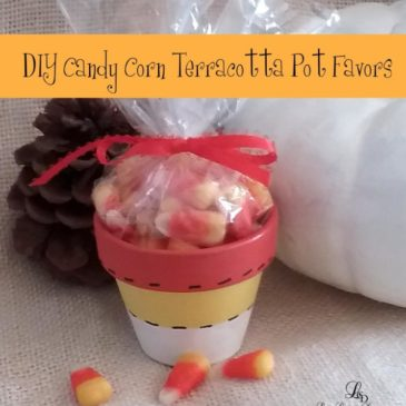 DIY Autumn Crafts: Hand Painted Candy Corn Flower Pot Candy Favors