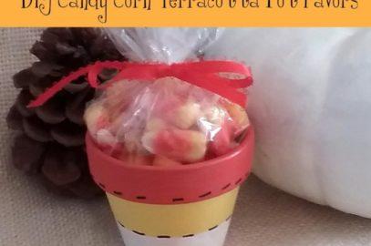 DIY Candy Corn Flower Pot Candy Favors