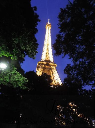 Eiffel Tower Paris France at Night